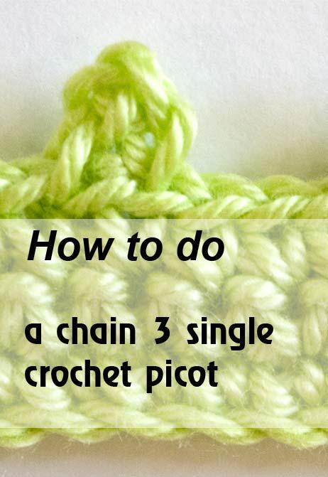 chain 3 sc picot - preview