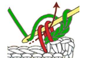 chain 3 sc picot - step 2