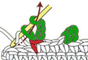 chain 3 sc picot - step 5