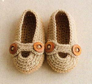 crochet baby boy slippers - big photo
