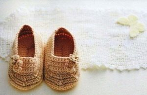 cute baby booties crochet pattern - big photo