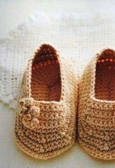 cute baby booties crochet pattern - preview