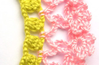 easy crochet edgings with flowers