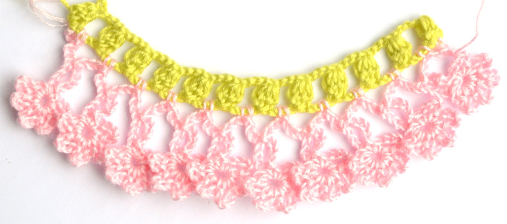 easy crochet edgings with flowers - photo