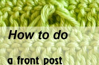 front post double crochet two together - preview
