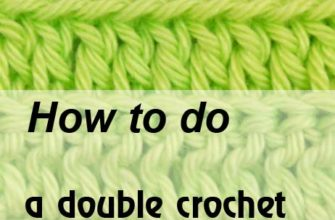 how to do a double crochet back loop only - preview
