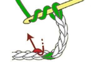 inverted Y-stitch - step 1