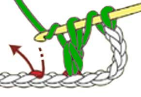 inverted Y-stitch - step 2