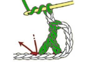 inverted Y-stitch - step 4
