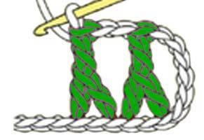 inverted Y-stitch - step 5