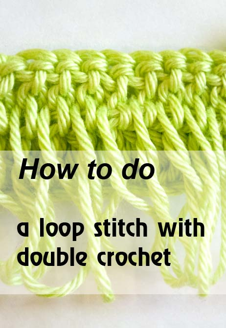 loop stitch with dc - preview