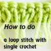 loop stitch with sc - preview