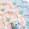 pretty crochet baby blanket - preview