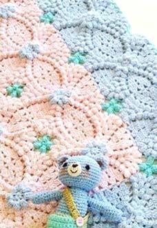 Pretty Crochet Baby Blanket Free Pattern Mycrochetpattern