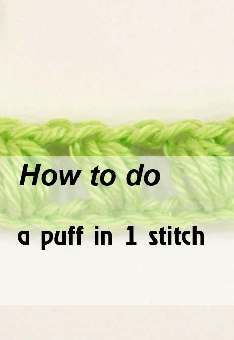 puff in one stitch - preview