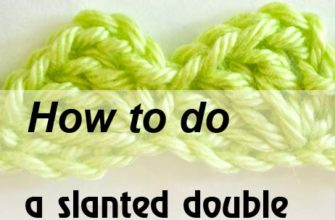 slanted double crochet stitch - preview