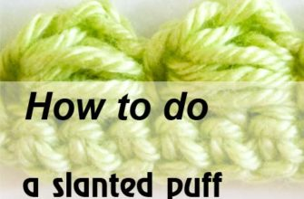 slanted puff stitch - preview