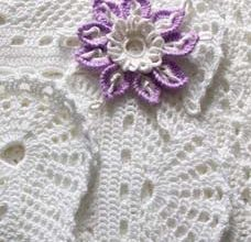 snow white lace crochet blanket for babies - preview
