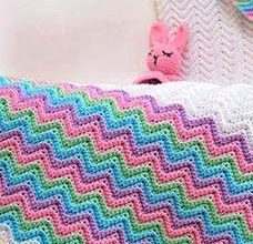 unique afghan crochet pattern for babies - preview