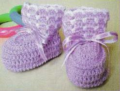 very easy baby booties crochet pattern - big photo