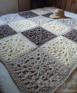 сrochet granny square blanket - big photo