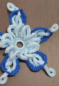 amazing 3d crochet flower pattern - preview