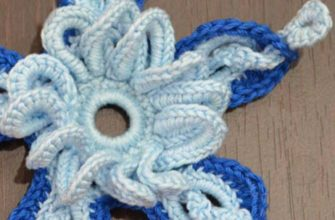 amazing 3d crochet flower pattern - preview