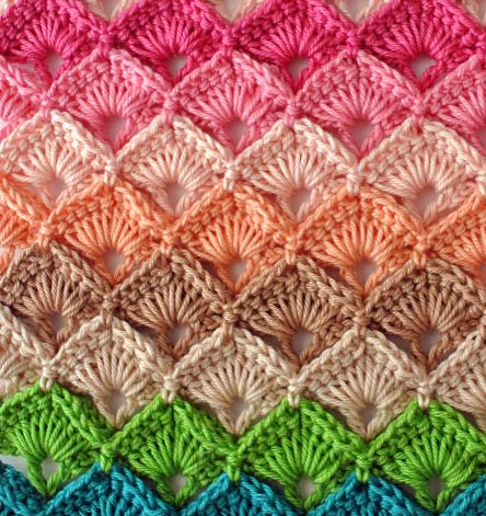 multicolour crochet box stitch pattern - photo