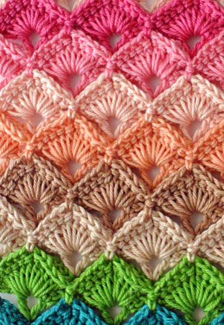 multicolour crochet box stitch pattern