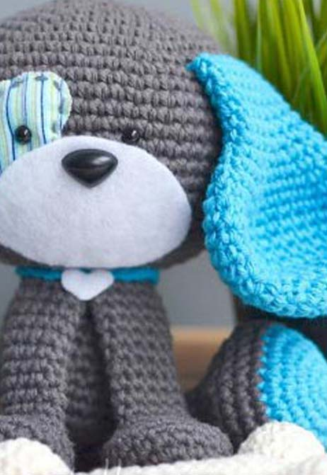 cute crochet dog toy - preview
