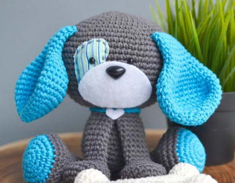 cute crochet dog toy - big photo