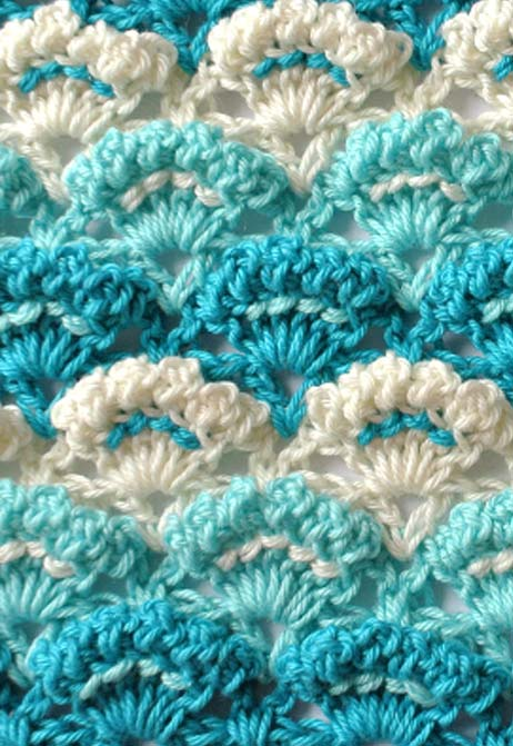 textured shell stitch - preview