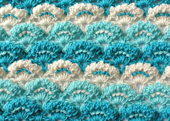 textured shell stitch