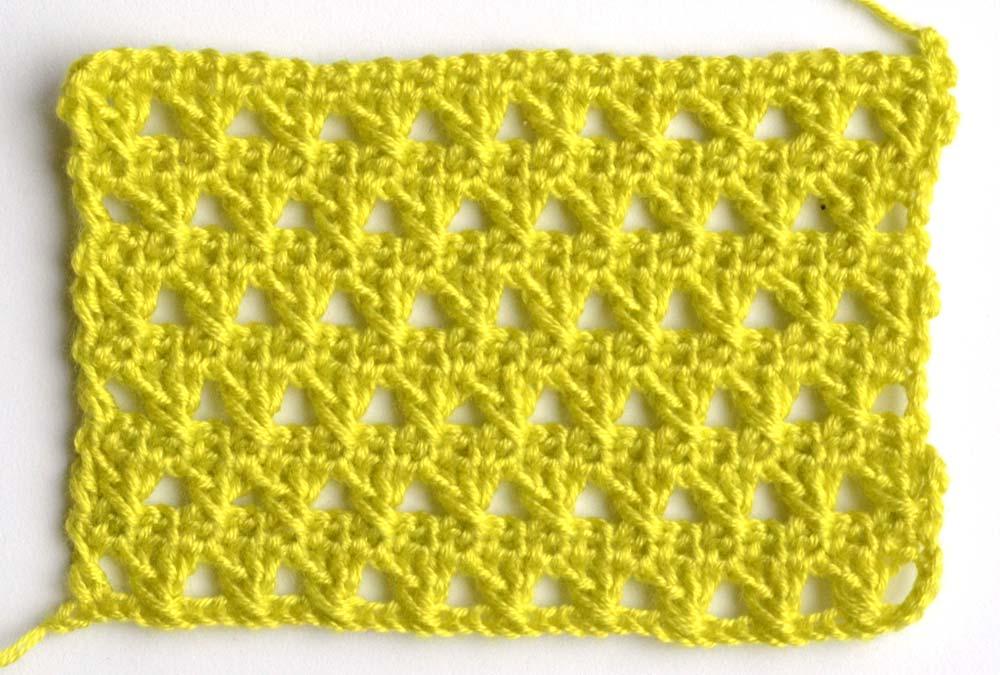 advanced green lace pattern