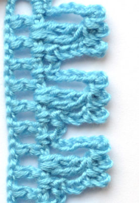 blue fluffy crochet edging - preview