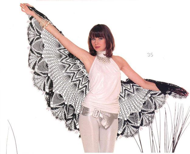 black crochet lace shawl pattern - photo