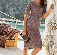 easy crochet dress with motifs - preview