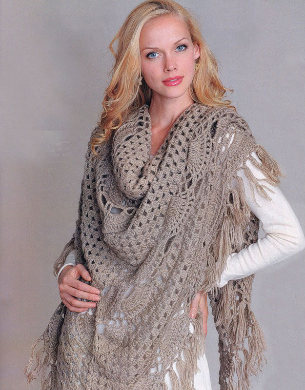 easy crochet shawl pattern - photo