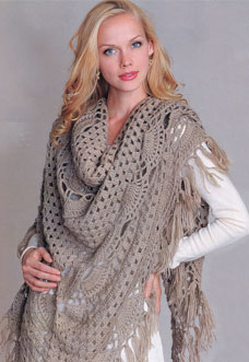 easy crochet shawl pattern - preview