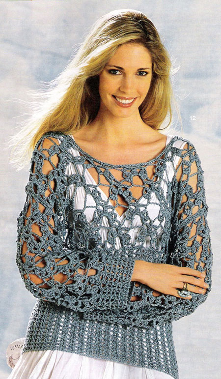 easy crochet sweater - photo