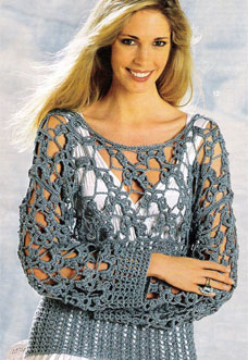 easy crochet sweater - preview