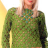 green crochet lace sweater - preview