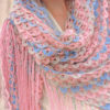 multicolor crochet lace shawl pattern-preview