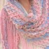 multicolor crochet lace shawl pattern-preview