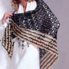 romantic lace shawl crochet pattern - preview