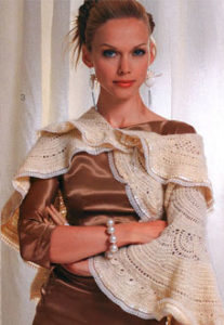 round shawl crochet pattern - preview