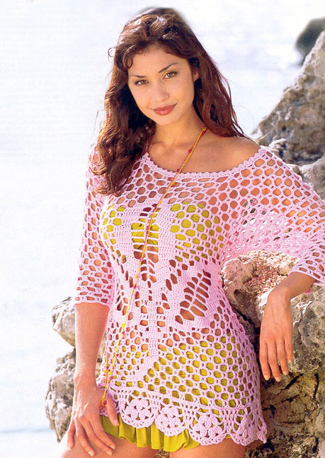 summer crochet sweater - photo