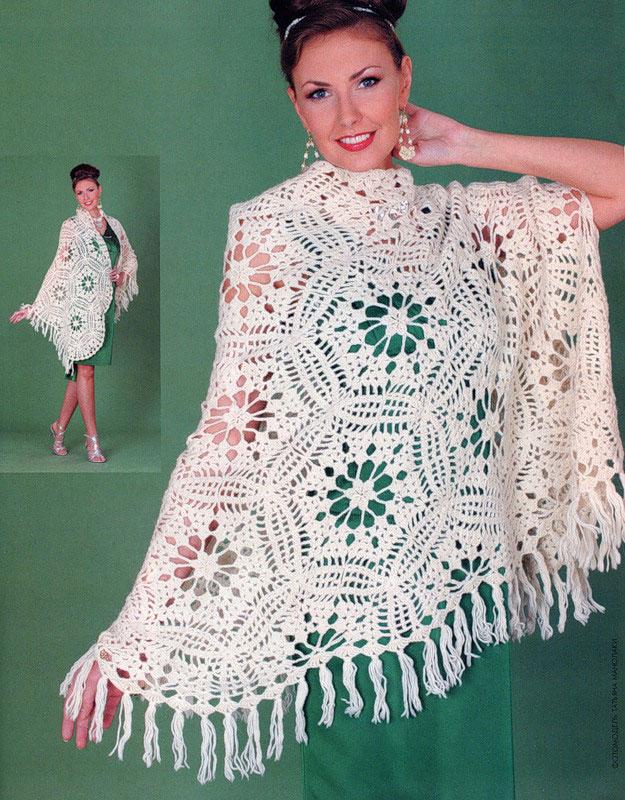 warm crochet shawl pattern -photo