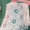 warm crochet shawl pattern - preview