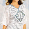 white crochet sweater with square - preview